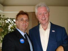 Tom Schirilo and Bill Clinton